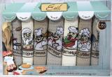 """Набір 7 кухонних рушників Ayben M5625 """"Кухар"""" 40х60, вафельні"""