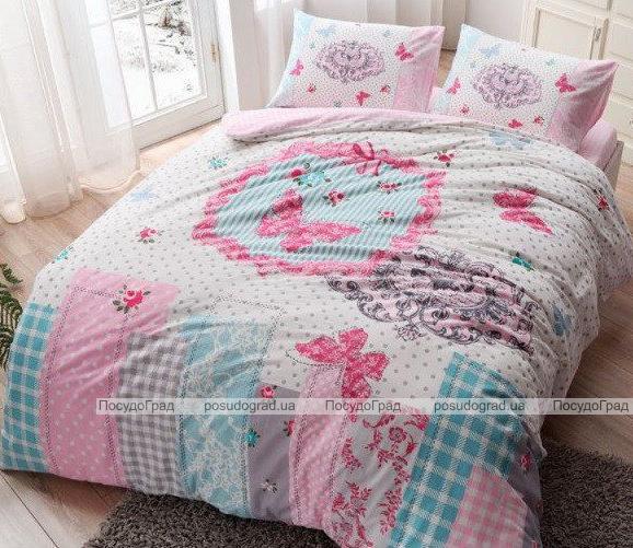 Комплект постельного белья TAC Buterfly (евро), фланель