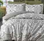 Комплект постельного белья Nazenin Barcon Bej (евро), сатин