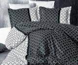 Комплект постельного белья Nazenin Dama Siyah Евро (4 наволочки), сатин