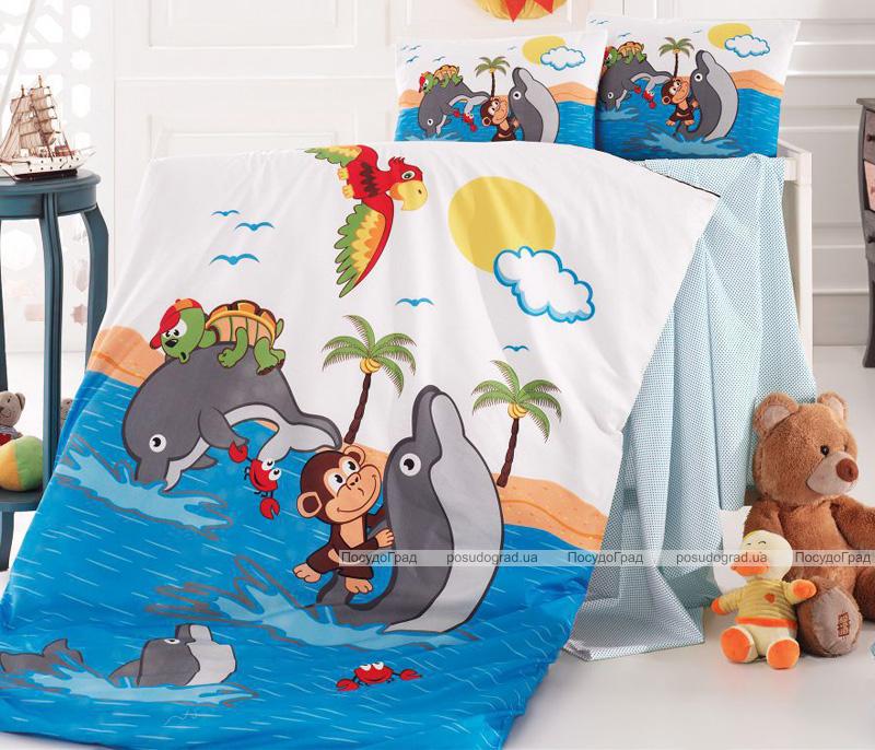 Комплект детского постельного белья Nazenin Dolphin в кроватку, хлопок