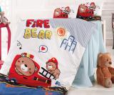 Комплект дитячої постільної білизни Nazenin Fire Bear у ліжечко, бавовна