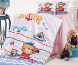 Комплект дитячої постільної білизни Nazenin Sailor у ліжечко, бавовна