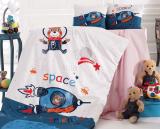 Комплект дитячої постільної білизни Nazenin Space у ліжечко, бавовна