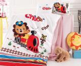 Комплект дитячої постільної білизни Nazenin Train у ліжечко, бавовна