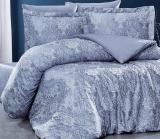 Комплект постельного белья Nazenin Regina Gri Евро (4 наволочки), жаккардовый сатин