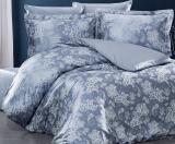 Комплект постельного белья Nazenin Sweta Florance Gri Евро (4 наволочки), жаккардовый сатин