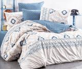 Комплект постельного белья Nazenin Iris Demin (евро), ранфорс