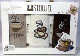 """Набір 3 кухонних рушника First Towel """"Coffee"""" 30х50см махрові"""