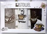 """Набір 3 кухонних рушника First Towel """"Чашка кави"""" 30х50см махрові"""