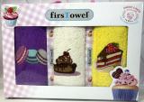 """Набір 3 кухонних рушника First Towel """"Солодощі"""" 30х50см махрові"""