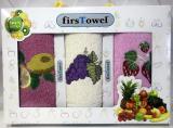 """Набір 3 кухонних рушника First Towel """"Фрукти"""" 30х50см махрові"""