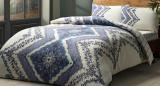 Комплект постільної білизни TAC Jenny Blue (полуторка), фланель