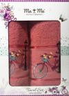 Подарочный набор полотенец Ma Me Jezim банное 70х140см и лицевое 50х90см, красные