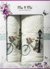 Подарочный набор полотенец Ma Me Jezim банное 70х140см и лицевое 50х90см, молочные