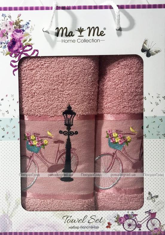 Подарунковий набір рушників Ma Me Jezim «Pink» банний 70х140см і лицьовий 50х90см