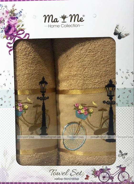 Подарочный набор полотенец Ma Me Jezim банное 70х140см и лицевое 50х90см, горчичные