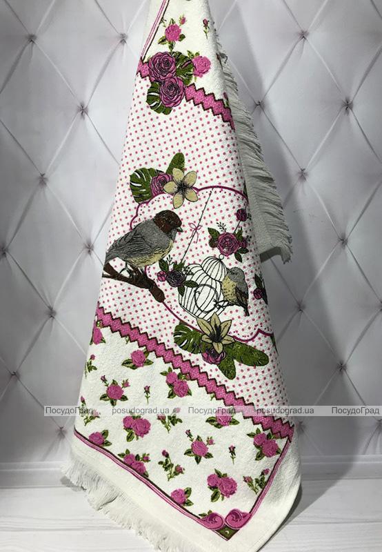 Набір 12 кухонних рушників By IDO Antalya Bird 40х60 махра/велюр