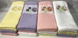 Набір 12 кухонних вафельних рушників By IDO «Квіти» 40х60см