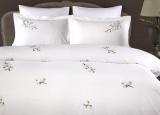 Комплект постельного белья Pepper Home Mia Yesil (евро) сатин с вышивкой