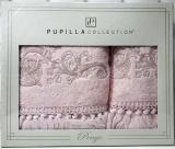 Набор полотенец Pupilla Cappy Penye, лицевое 50х90см и банное 70х140см, розовый