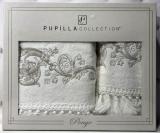Набор полотенец Pupilla Cappy Penye, лицевое 50х90см и банное 70х140см, белый