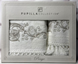 Набір рушників Pupilla Cappy Penye, лицьовий 50х90см і банний 70х140см, білий