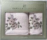 Набор полотенец Pupilla Cicek Bambuk, лицевое 50х90см и банное 70х140см, розовый