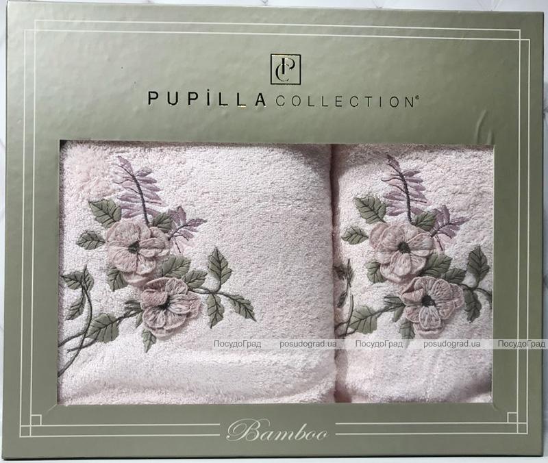 Набір рушників Pupilla Cicek Bambuk, лицьовий 50х90см і банний 70х140см, рожевий
