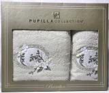 Набор полотенец Pupilla Hayal Bambuk лицевое 50х90см и банное 70х140см, молочный