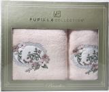 Набор полотенец Pupilla Hayal Bambuk лицевое 50х90см и банное 70х140см, розовый