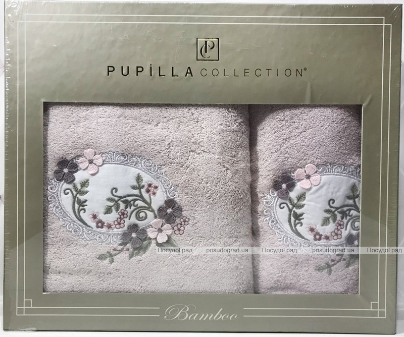 Набір рушників Pupilla Hayal Bambuk лицьовий 50х90см і банний 70х140см, бузковий