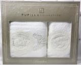 Набір рушників Pupilla Olivyum Bambuk лицьовий 50х90см і банний 70х140см, білий