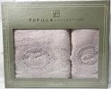 Набір рушників Pupilla Olivyum Bambuk лицьовий 50х90см і банний 70х140см, бузковий