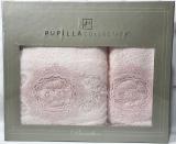 Набор полотенец Pupilla Olivyum Bambuk лицевое 50х90см и банное 70х140см, розовый