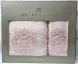 Набір рушників Pupilla Olivyum Bambuk лицьовий 50х90см і банний 70х140см, рожевий