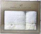 Набор полотенец Pupilla Romantik Bambuk лицевое 50х90см и банное 70х140см, белый