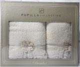 Набір рушників Pupilla Romantik Bambuk лицьовий 50х90см і банний 70х140см, кремовий