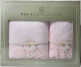 Набор полотенец Pupilla Romantik Bambuk лицевое 50х90см и банное 70х140см, розовый