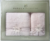 Набор полотенец Pupilla Romantik Bambuk лицевое 50х90см и банное 70х140см, сиреневый
