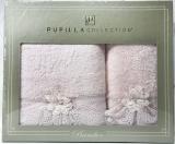 Набір рушників Pupilla Romantik Bambuk лицьовий 50х90см і банний 70х140см, бузковий