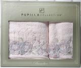 Набір рушників Pupilla Roselinda Bambuk лицьовий 50х90см і банний 70х140см, рожевий