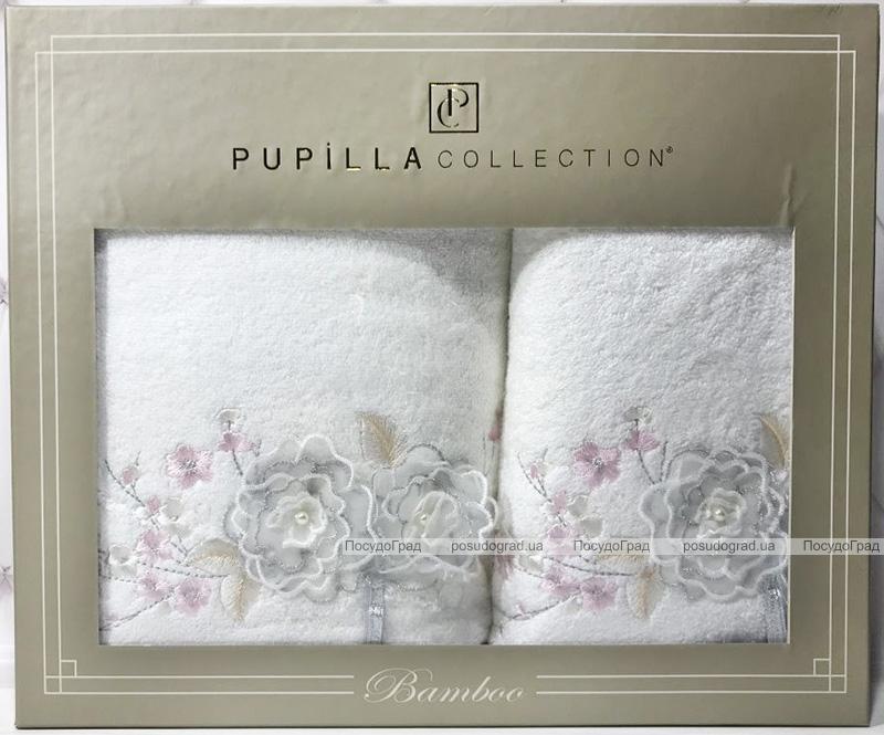 Набір рушників Pupilla Roselinda Bambuk лицьовий 50х90см і банний 70х140см, білий