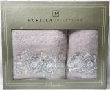 Набір рушників Pupilla Roselinda Bambuk лицьовий 50х90см і банний 70х140см, бузковий
