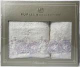 Набір рушників Pupilla Roselinda Bambuk лицьовий 50х90см і банний 70х140см, молочний