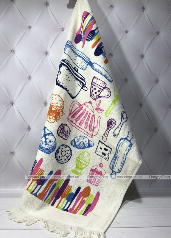 Набор 12 кухонных полотенец By IDO Antalya Kitchen 40х60 махра/велюр