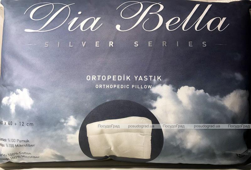 """Подушка Unicolor """"Dia Bella"""" Silver 60х40см +12см ортопедическая"""
