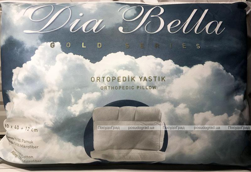 """Подушка Unicolor """"Dia Bella"""" Gold 60х40+12см ортопедична"""