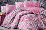 Комплект постельного белья Nazenin Arrigo-Bordo (полуторный), ранфорс