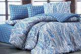 Комплект постельного белья Nazenin Arrigo-Lacivert (полуторный), ранфорс